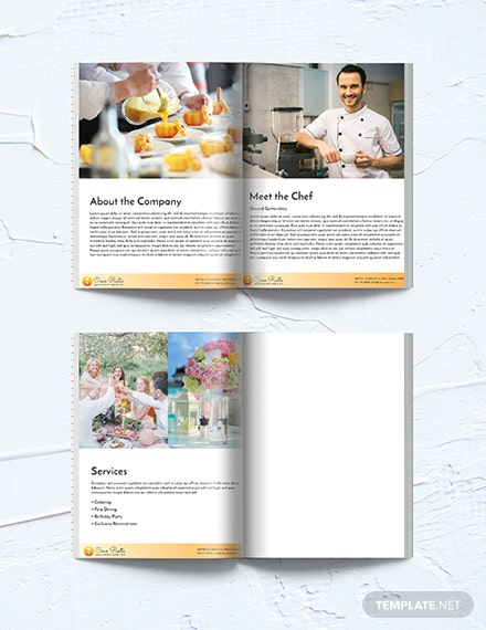 Free Downloadable Restaurant Business Media Kit Template
