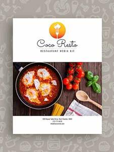 Free Restaurant Business Media Kit Template
