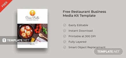 Free Restaurant Business Media Kit Template
