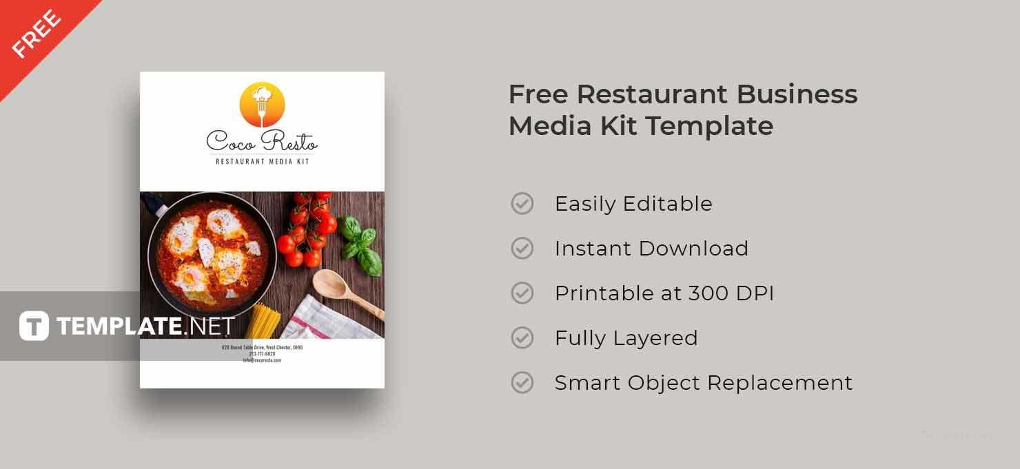 Free Restaurant Business Media Kit