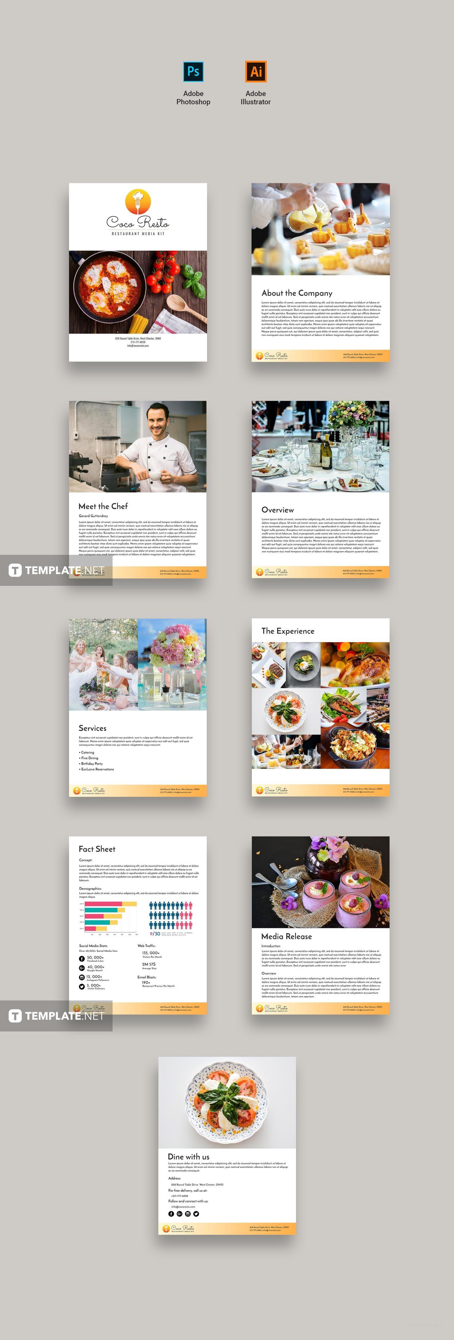 Creative Restaurant Business Media Kit