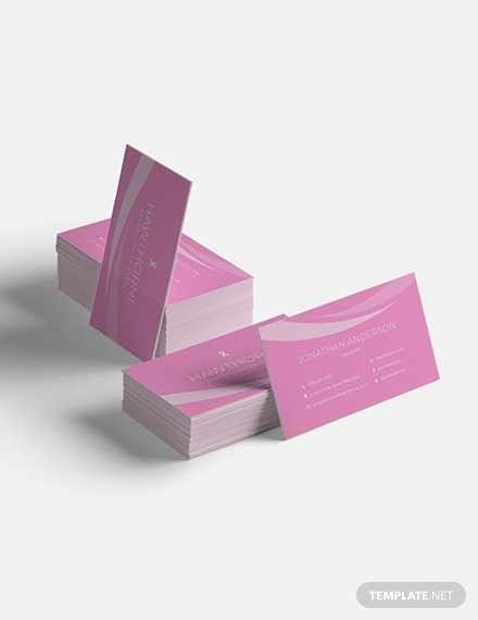 Cancer Charity Business Card Sample