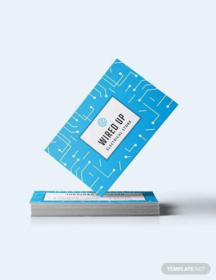 Electric Store Business Card Download