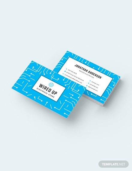 Electric Store Business Card Template