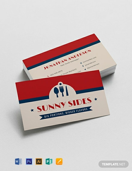 fast food business card template 440x570 1