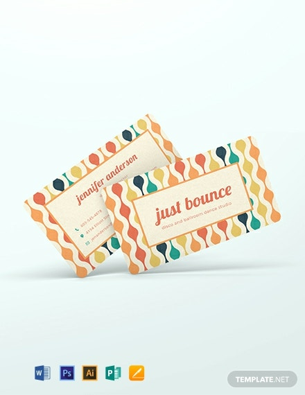Funky Business Card Template