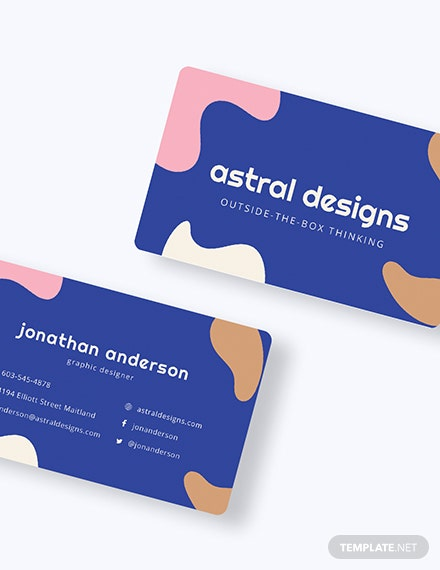Graphic Design Business Card Download
