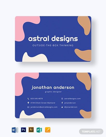Graphic Design Business Card Template