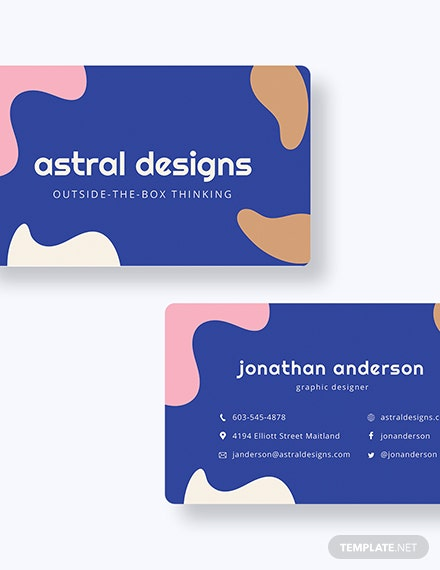Sample Graphic Design Business Card