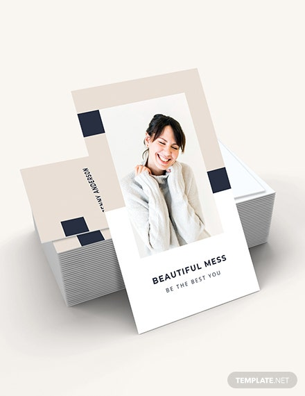 Sample Vertical Business Card