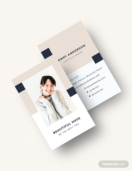 Vertical Business Card Download