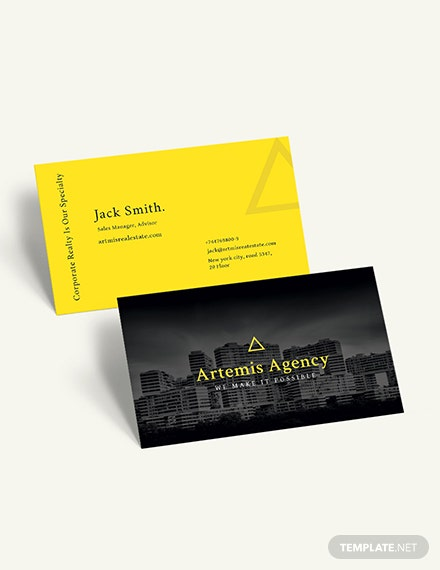 Commercial Property Management Business Card Download