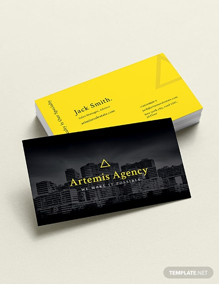 Commercial Property Management Business Card Template
