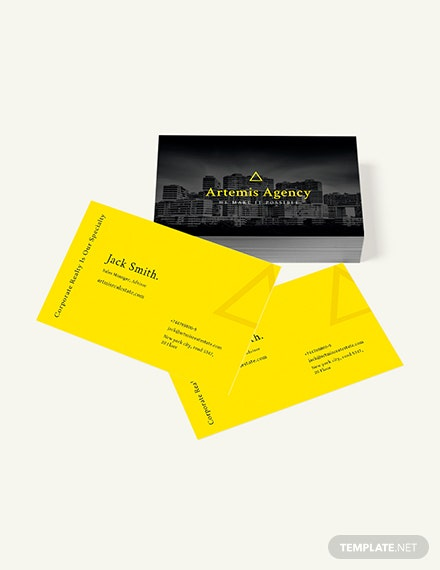 Sample Commercial Property Management Business Card