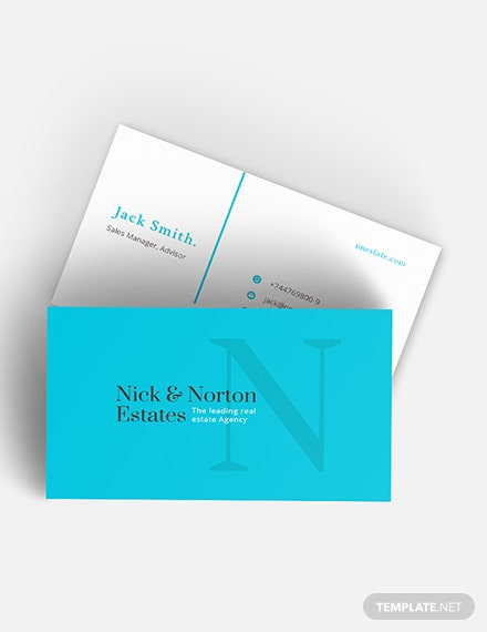 Real Estate Agent Business Card Download