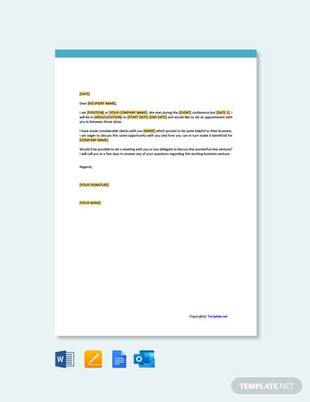 Appointment Request Letter Template
