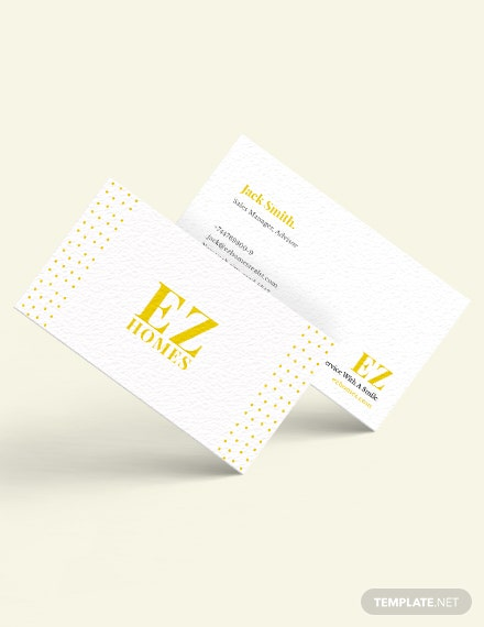 Real Estate Sales Manager Business Card Template