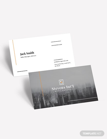 Commercial Real Estate Business Card Download