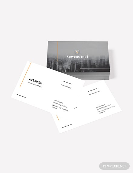 Sample Commercial Real Estate Business Card