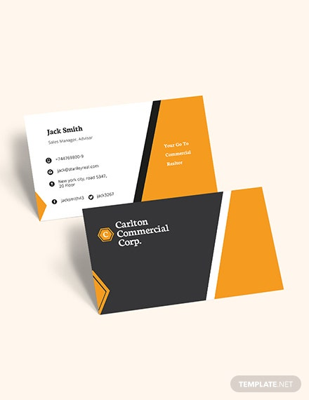 Commercial Real Estate Property Business Card Download