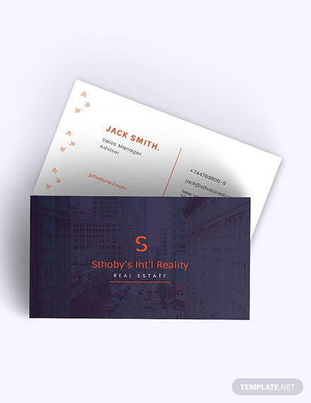 Residential Real Estate Business Card Download