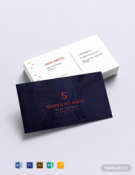 Residential Real Estate Business Card Template
