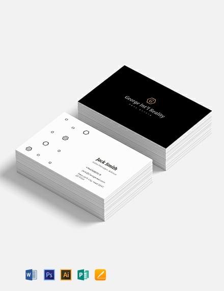 Elegant Real Estate Business Card Template