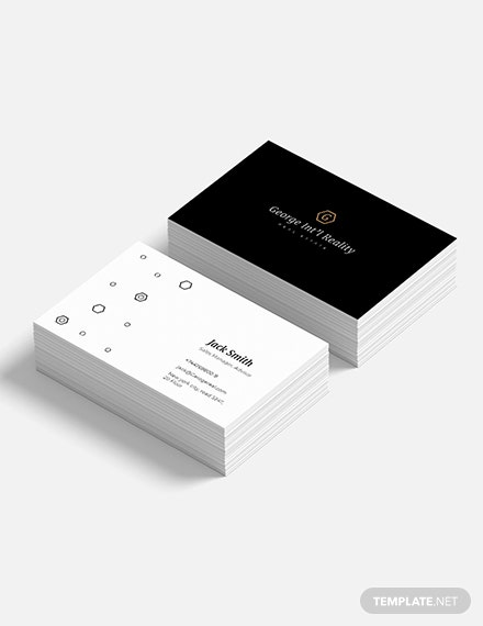 Elegant Real Estate Business Card Download 155 Business Cards In