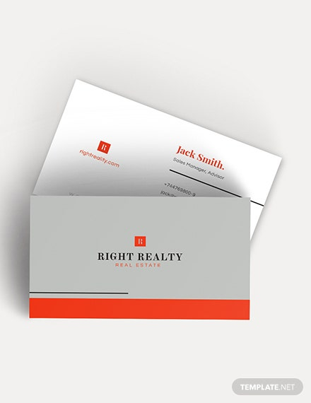 Minimal Real Estate Business Card Download