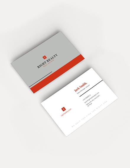 Minimal Real Estate Business Card Sample