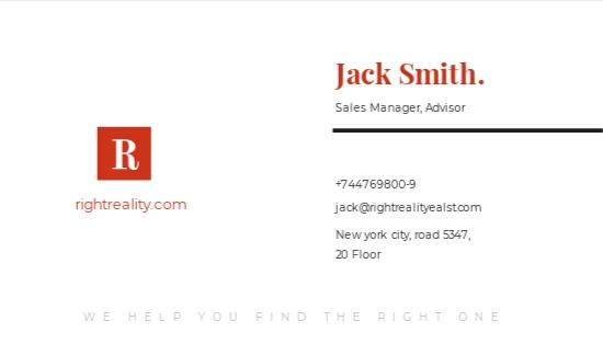 Minimal Real Estate Business Card Template 1.jpe