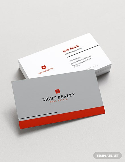 Minimal Real Estate Business Card Template