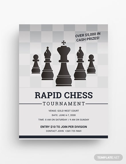 chess tournament flyer template 1