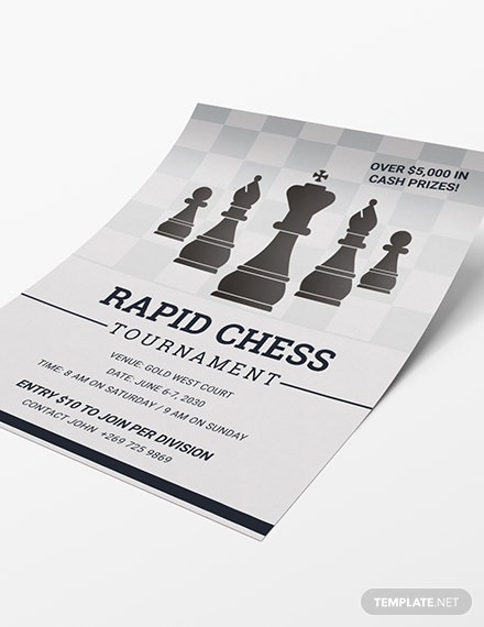 Sample Chess Tournament Flyer