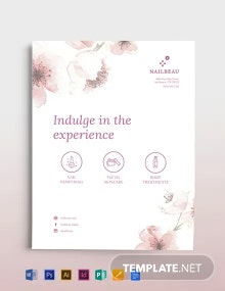 Elegant Nail Salon Flyer Template