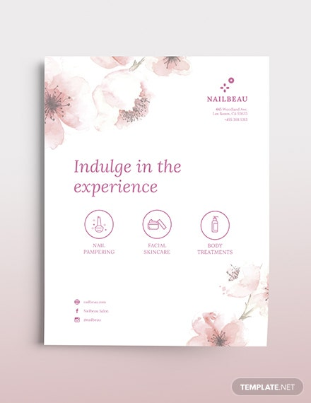 Elegant Nail Salon Flyer Template