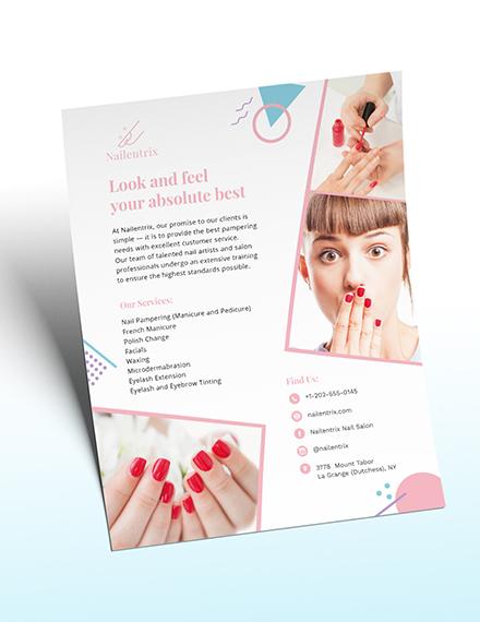 Modern Nail Salon Flyer Download