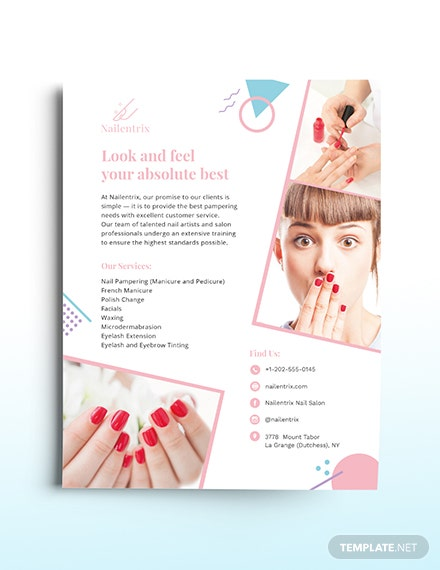 Modern Nail Salon Flyer Template
