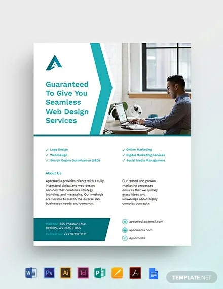 Website Designer Flyer Template