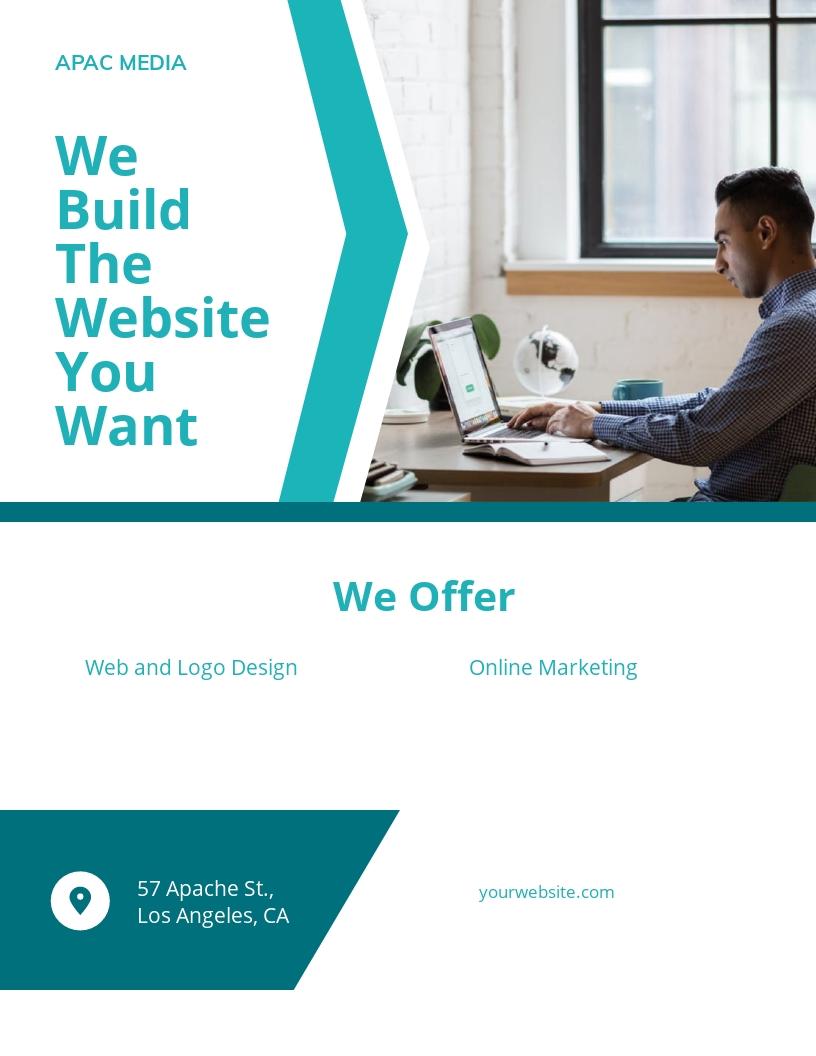 Website Designer Flyer Template [Free JPG] - Google Docs, Illustrator, InDesign, Word, Apple Pages, PSD, PDF, Publisher