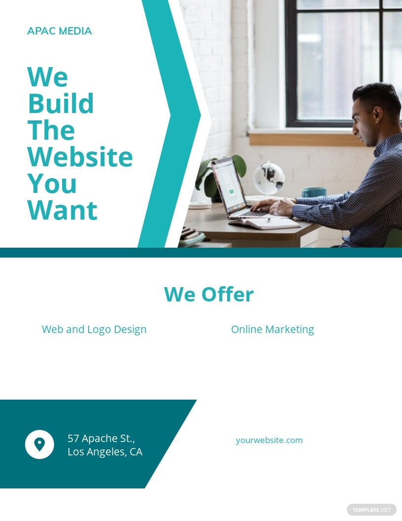 Website Designer Flyer Template