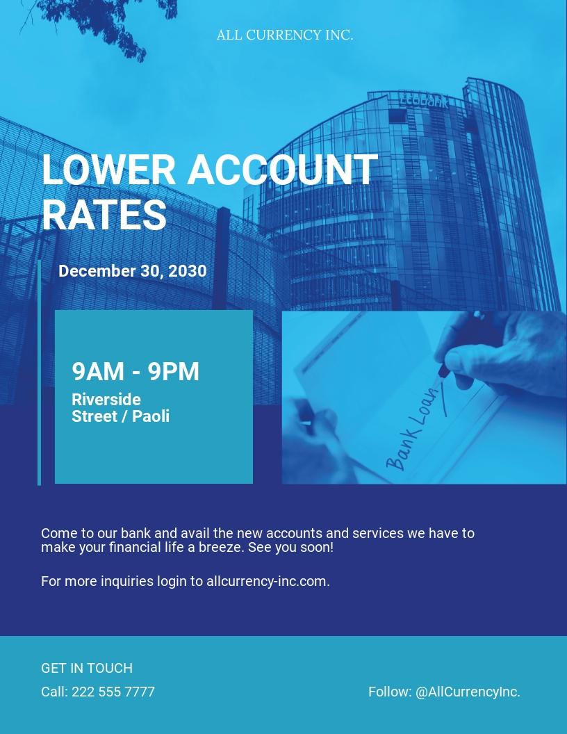 Bank Flyer Template