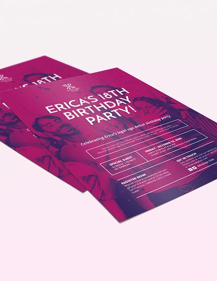 Sample Birthday Party Flyer