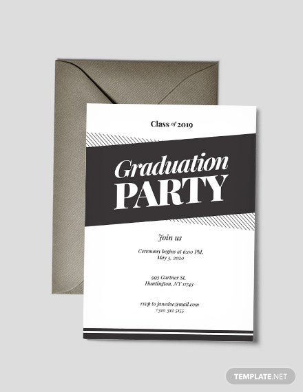 photo about Printable Graduation Party Invitations called 42+ Printable Commencement Invites - PSD, AI, Term Cost-free