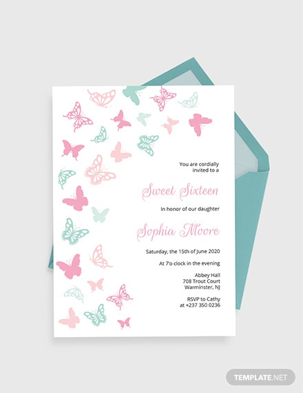 Butterfly Birthday Invitation Download