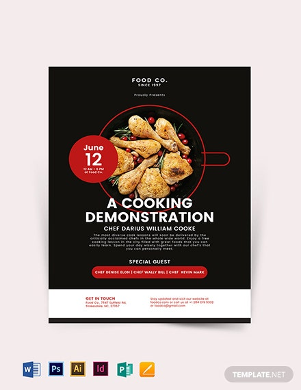 Cooking Flyer Template