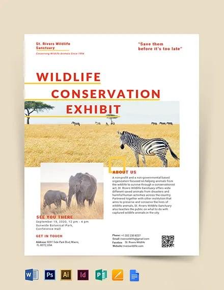 Wildlife Conservation Flyer Template