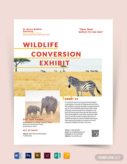 Wildlife Conservation Flyer Template