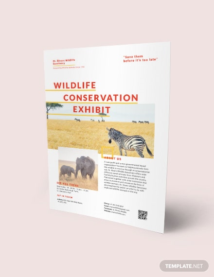 wildlife conservation flyer template download 1