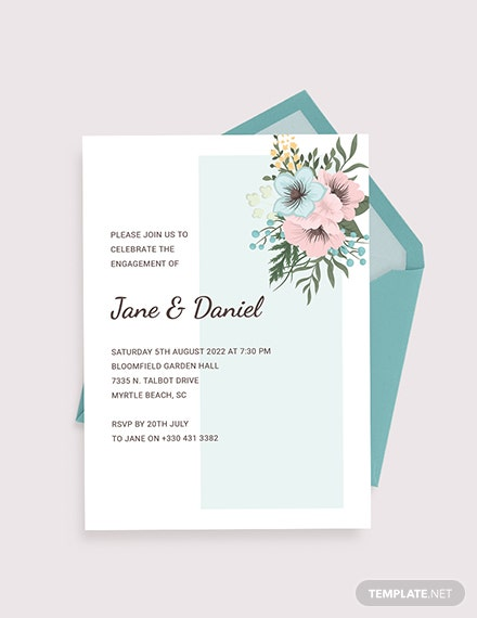 Engagement Ceremony Invitation Download